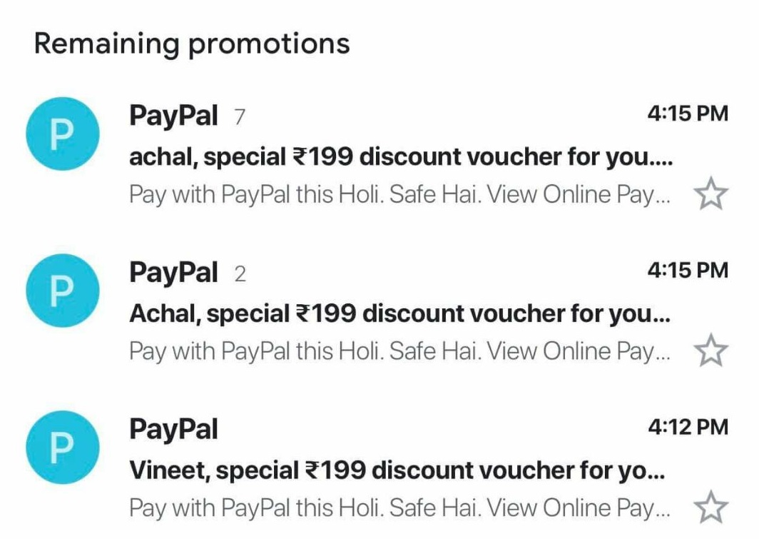 😮Holi Loot- PayPal is Sending ₹199 Coupon (Check In Your Account)