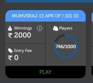 (Loot) LivePool Fantasy- Play Free Leagues & Win ₹2000+ Cash