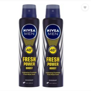 (Cool) Nivea Fresh Power Boost Deo For Men (Pack of 2) Just ₹188 | 50% Off