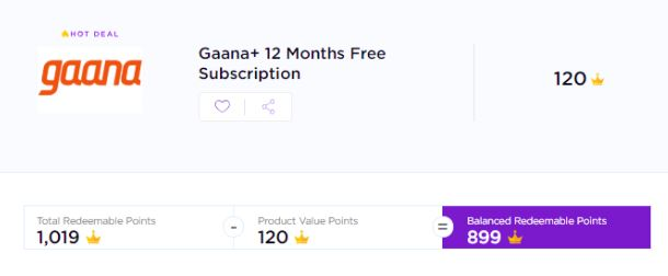 (Bada Loot) Instantly Get Free 1 Year Gaana+ Voucher | All Users, Limited