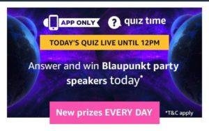 AmazonBlaupunkt Quiz - Answers & Win Blaupunkt party speakers