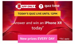 Amazon iPhone XR Quiz Answers