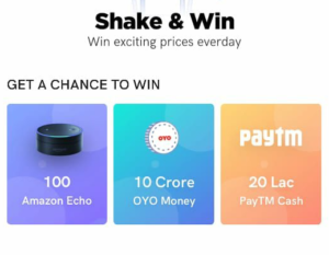 Oyo Shake Phone Win Exciting Prizes Offer