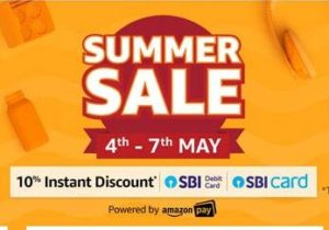 Amazon Summer Sale - 90% Off On Branded Products +10% With SBI
