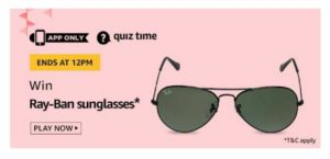 Amazon Ray-Ban Sunglasses Quiz
