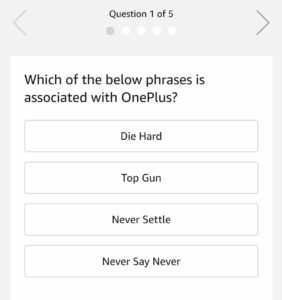 [All Answers] Amazon OnePlus 7 Pro Quiz - Win Free OnePlus 7 Pro