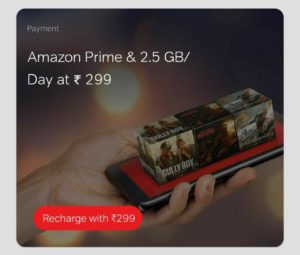 Airtel 299 Plan - Daily 2.5 GB Data+ Free Amazon Prime + Unlimited Calls