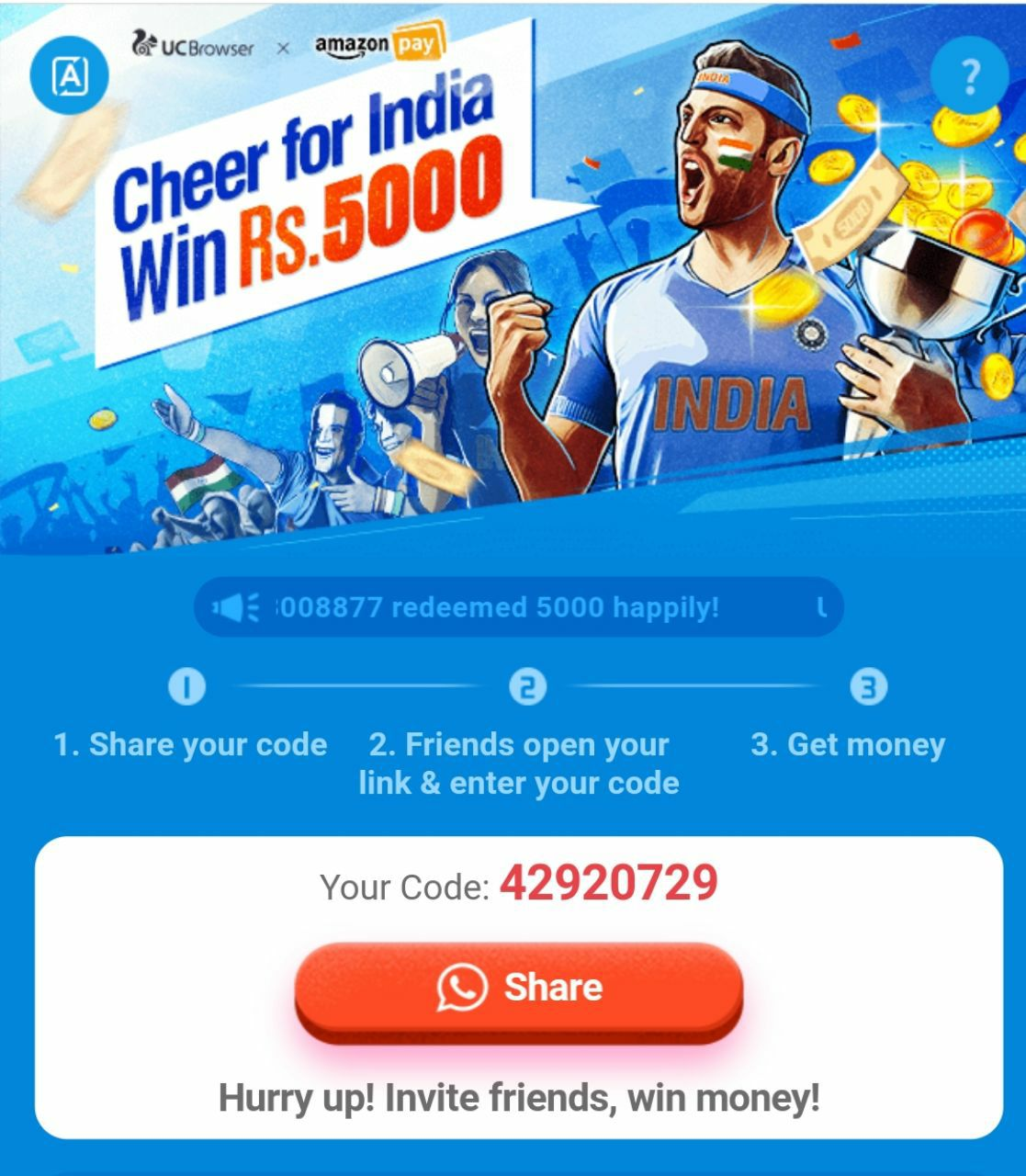 Last Days) UC Browser ₹5000 Loot - Get Free ₹100 Recharge