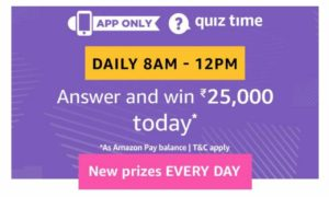 Amazon ₹25000 Pay Balance Quiz