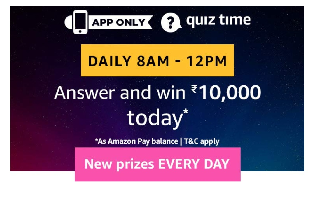 4ab4315022dc80 Amazon Quiz Time Daily – Today's Answer Of 25th July Quiz