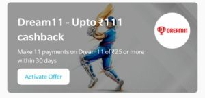 Dream11 Add Money Offer