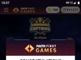 PayTM First Games- Install & Get ₹10 PayTM Cash | Refer