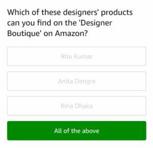 Fantastic All Answers Amazon Fashion Quotient Quiz Answers Win Interior Design Ideas Clesiryabchikinfo