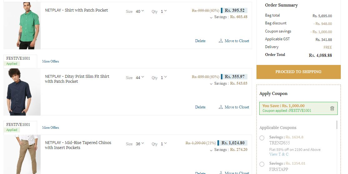 Ajio ₹1000 Flat Off On ₹2500 Shopping