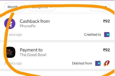 PhonePe App Food Offer