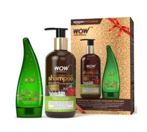 [Price Error] Wow Shampoo, 300ml +Pure AloeVera Gel @ Just ₹145