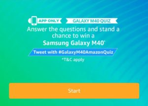 All Answers) Amazon Galaxy M40 Quiz - Win Free Galaxy M40
