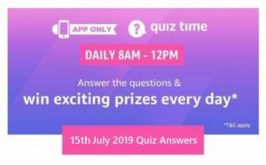 Amazon 25th August Quiz Answers