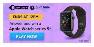 Amazon Apple Watch Quiz Answers