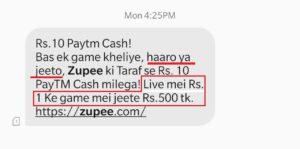 Zupee App Free PayTM cash