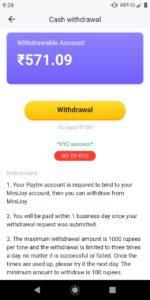 Minijoy App Payment Proof