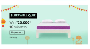 Amazon Sleepwell Quiz