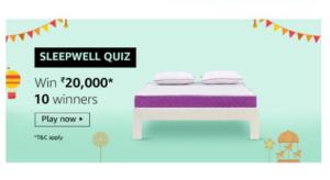 Amazon Sleepwell Quiz