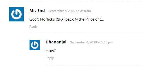 (छोटा लूट) 1mg Horlicks Loot- 3kg Horlicks @ Just ₹400 (Worth ₹1300)