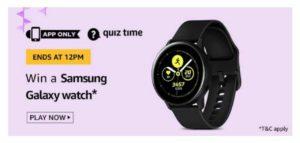 AmazonSamsung Galaxy WatchQuiz - Win Free Galaxy Watch