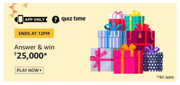 Amazon Today Quiz Answers