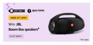 Amazon 24th September Quiz Answers