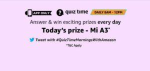 Amazon 25th September Quiz Answers