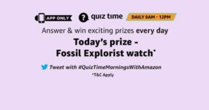 Amazon 28th September Quiz Answers