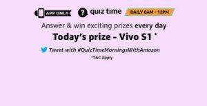 Amazon 29th September Quiz Answers