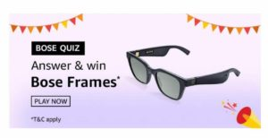 Amazon Bose Frames Quiz - Answer & Win Free Bose Frames