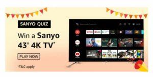 Amazon Sanyo Quiz Answers
