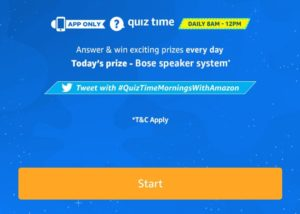 [Answers] Amazon 15th October Quiz – Win Bose Speaker System