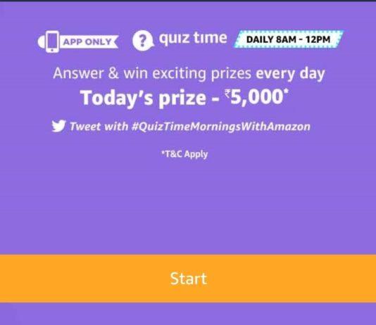 Amazon Quiz Answers - Today's Answer Of GoPro Hero 8 Quiz