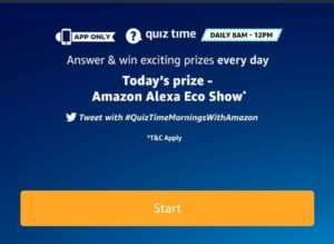 Amazon Alexa Eco Show Quiz – Answer & win Alexa Eco Show