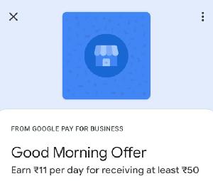 Google Pay Merchant Good Morning Offer