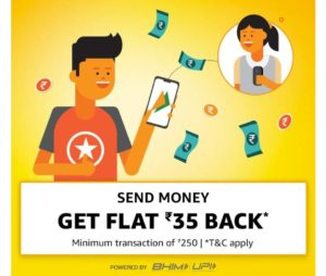 [New Week] Amazon Send Money - Get Flat Rs 35 Back + ₹35 Extra