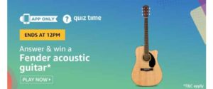 Amazon 26th October - Fender Acoustic Guitar Quiz
