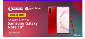 Amazon Galaxy Note 10 Quiz
