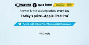 Amazon Apple Ipad Pro Quiz Answers - November