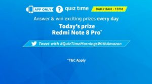 Amazon Redmi Note 8 Pro Quiz Answers