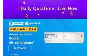 Amazon Godrej Air Conditioner Quiz Answers