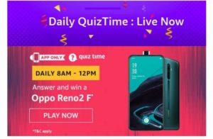 Amazon Oppo Reno2 F Quiz Answers