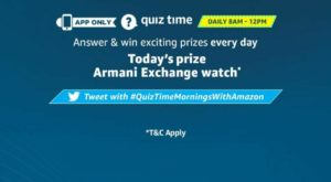 Amazon Armani Watch Quiz Answers