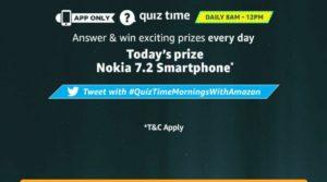 Amazon Nokia 7.2 Quiz Answers