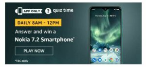 Amazon Nokia 7.2 Quiz Answers